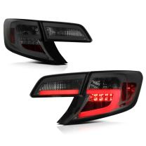 VIPMOTOZ For 2012-2014 Toyota Camry Chrome Smoke OLED Neon Tube Premium LED Tail Light Housing Lamp Assembly Replacement, Driver and Passenger Side
