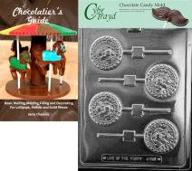 Cybrtrayd Air Force Pop Chocolate Candy Mold with Chocolatier's Guide Instructions Book Manual