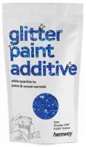"""Hemway Glitter Paint Additive Chunky 1/40"""" 0.6mm Emulsion/Acrylic Water Based Paints Wall Ceiling 100g / 3.5oz (Sapphire Blue Holographic)"""