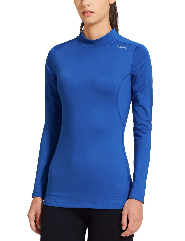 BALEAF Women's Fleece Thermal Long Sleeve Running Shirt