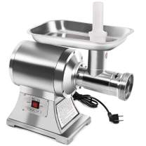 Tangkula Electric Meat Grinder, Stainless Steel True 1HP No #22 Commercial Sausage Maker, Heavy Duty Food Processing Machine with Cutting Blade for Restaurant, Butcher, Kitchen, Food Grinder