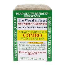 Dead Sea Warehouse - Amazing Minerals Combination Facial Skin Soap Bar, Hand Crafted with Deep Cleansing Dead Sea Mud and Soothing Dead Sea Salts (3.5 Ounces)