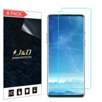 J&D Compatible for OnePlus 8/OnePlus 8T Screen Protector (6-Pack), Not Full Coverage, HD Clear Protective Film Shield Screen Protector for OnePlus 8, OnePlus 8T Crystal Clear Film