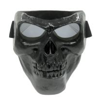 Vhccirt Spooky Skull Face Mask Halloween Decoration for Airsoft Paintball Motor Racing Polarized Lens