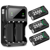 Xbox One Controller Battery Pack, BEBONCOOL Xbox One Rechargeable Battery Pack with Charging Station, 3x2550 mAh Battery Pack Rechargeable for Xbox One/Xbox One S/Xbox One X/Xbox One Elite Controller