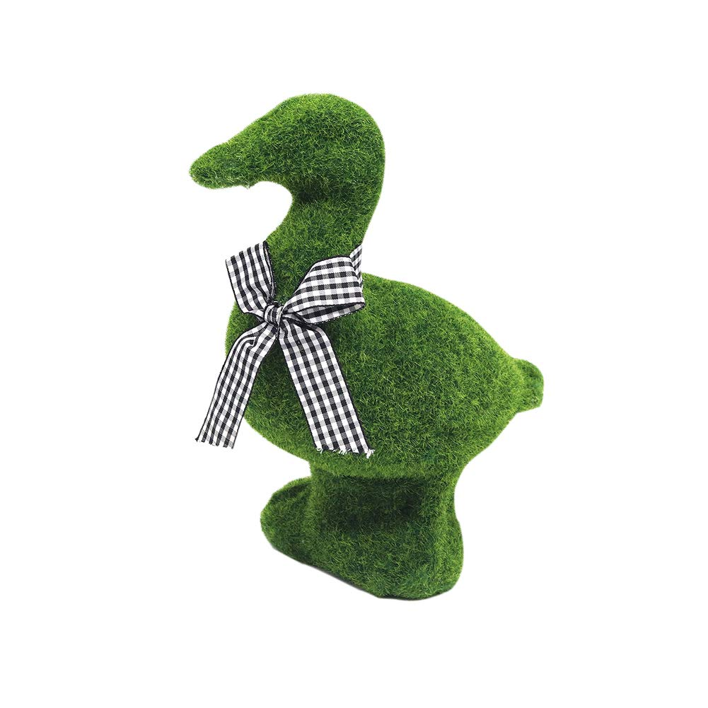 Mingfuxin Great Easter Egg Hunt Furry Flocked Bunny Rabbit Easter Décor for an Easter Celebration or Children's Party, Green (Big Duck)