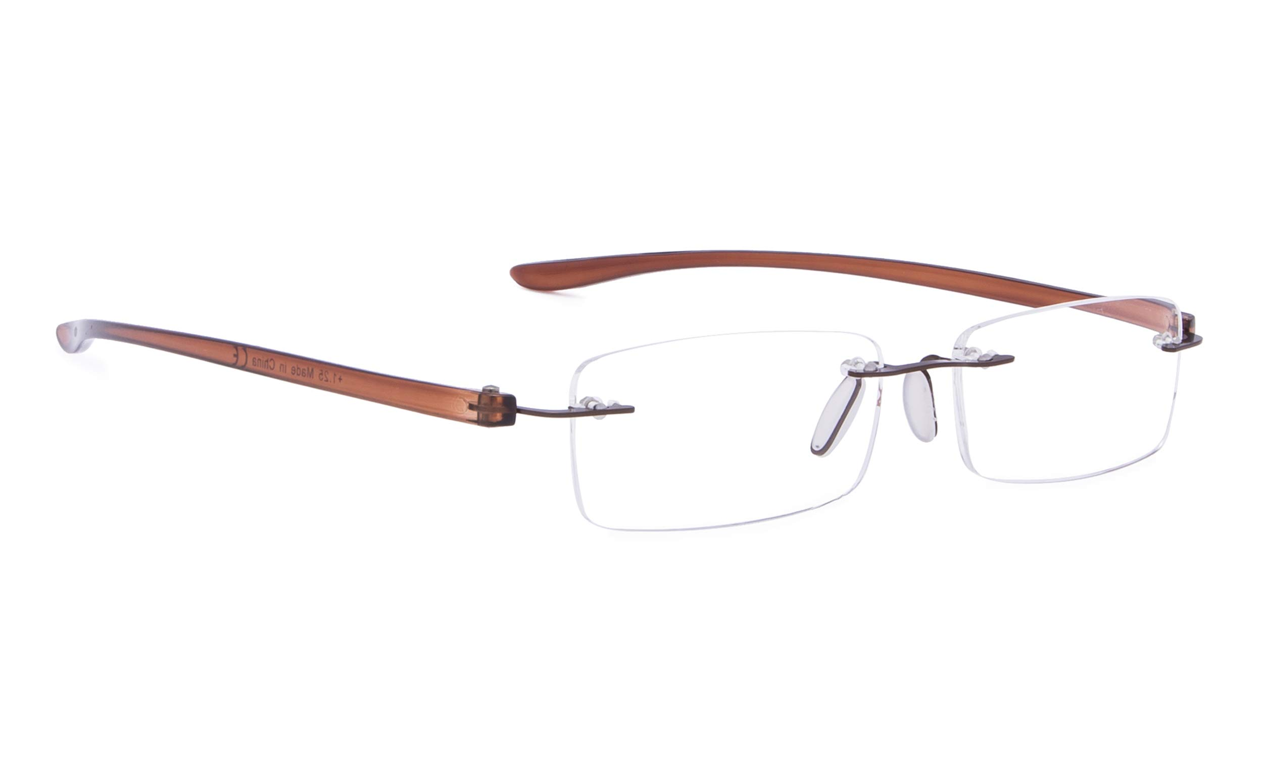 Rimless Reading Glasses Small Readers Men Women