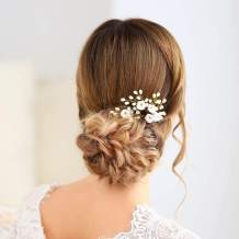 Unicra Bride Wedding Crystal Hair Pins Bridal Headpieces Wedding Hair Pieces Accessories for Women and Girls