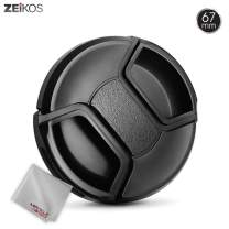 Zeikos ZE-LC67 67mm Plastic Snap On Lens Cap (Black)