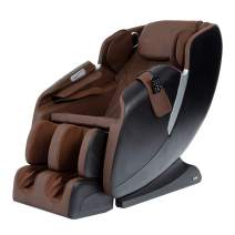 AmaMedic R7 Massage Chair 8 Fixed Massage Rollers Space Saving Recline 16 Airbag Massage Zero Gravity 6 Automatic Programs (Brown)
