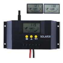 Sun YOBA 30A 12V/24V Solar Charge Controller LCD Solar Panel Battery Intelligent Regulator with Dual USB Port 5V Auto Switch