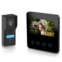 Wired Video Intercom System, 4.3 Inches Video Doorbell Door Phone System, Wired Video Door Phone HD Camera Kits Support Unlock, Monitoring, Dual-way Intercom for Villa Home Office Apartment