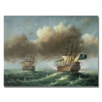 The Revenge by Master's Art, 35x47-Inch Canvas Wall Art