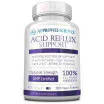 Approved Science® Acid Reflux Support - with Melatonin, Marshmallow Root, L-Taurine 60 Vegan Friendly Capsules
