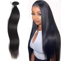 "A ALIMICE Brazilian Straight Hair Bundles 10A Hair Bundles 100% Unprocessed Human Hair Bundles 1 Bundle Straight Hair(22"", 100g/pcs, Natual Black Color)"