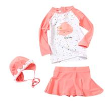 LOSORN ZPY Toddler Baby Girl Long Sleeve UPF 50+ Two Piece Rash Guard Set