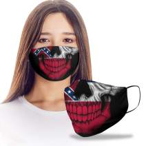 VTH Global Mississippian Skull Mississippi State Flag Reusable Washable Face Mask Women Men for Dust Protection