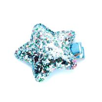 Peppercorn Kids Girls Multicolor Glitter Star Hair Clip - Blue