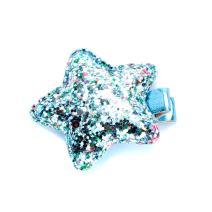 Peppercorn Kids Girls Multicolor Glitter Star Hair Clip - Blue