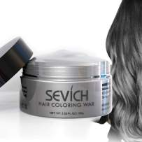 Color Hair Wax - Sevich Hair Style Dye Mud, Instantly Natural Hair Color, Natural Ingredients Washable, Temporary 100g/3.57Oz Grey