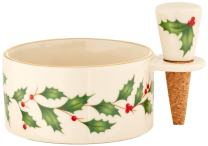 Lenox 870006 Holiday Wine Coaster & Stopper Set