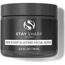 Exfoliating Face Scrub for Men - Luxury Daily Mens Facial Wash - Natural Organic Skin Care with Deep Powerful Exfoliator - Formulated with Organic Aloe, Witch Hazel and Kaolin Clay - 4.0 Oz