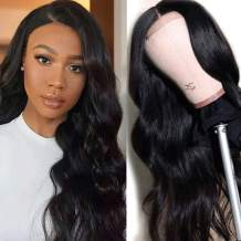"""360 Full Lace Wigs Human Hair Pre Plucked 9A Remy Brazilian Human Hair Wigs for Black Women 150% Density 360 Lace Frontal Wig with Baby Hair Body Wave Human Hair Wig Curly Wavy 22"""""""