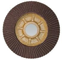 """CS Unitec 93826 PLANTEX Tiger Shark Flap Disc for Grinding Aluminum, Ceramic/Corundum, 4-1/2"""" Diameter, 7/8"""" Arbor, 60 Grit (Pack of 10)"""