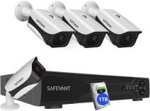 [2020 New] Home Security Camera System with 1TB Hard Drive,SAFEVANT 8 Channel 5-in-1 DVR Systems 4PCS 2MP Outdoor Indoor Surveillance Cameras with Night Vision Motion Detection