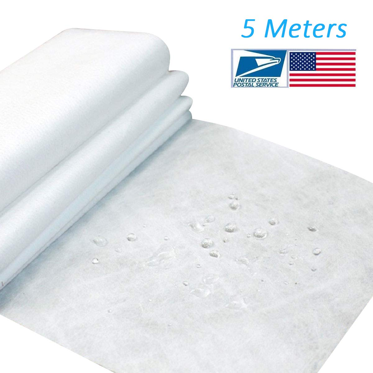 Non-Woven Fabric Microfiber Melt-Blown Cloth, Disposable Middle Layer Filter Fabric Polypropylene Sediment Filters for Filtering Layer Application, Filtering Efficiency Greater Than 95% (5M)