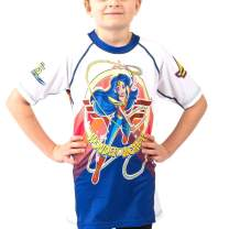Fusion Wonder Woman Kids Rash Guard Compression Shirt- Short Sleeve