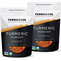 Terrasoul Superfoods Organic Turmeric Powder, 2 Lbs (2 Pack) - Curcumin | Lab Tested for Purity | Premium Quality