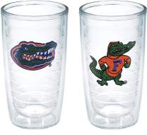 Tervis 1057591 Florida Gator Head And Body Emblem Tumbler, Set of 2, 16 oz, Clear