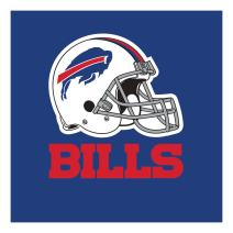 Creative Converting Officially Licensed NFL Paper Lunch Napkins, 192-Count, Buffalo Bills