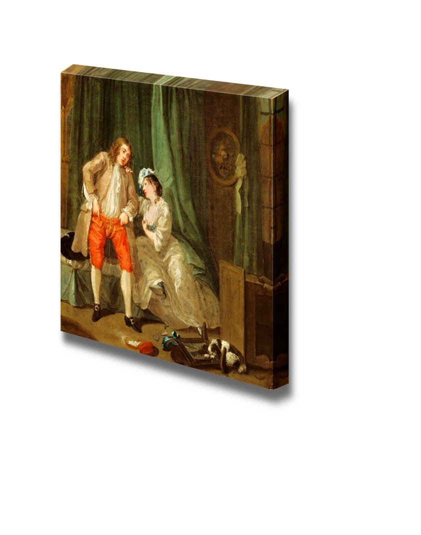 """wall26 - After by William Hogarth - Canvas Print Wall Art Famous Oil Painting Reproduction - 24"""" x 24"""""""