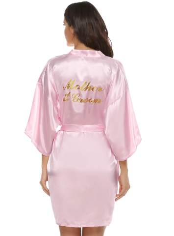 Set of Bridesmaid Robes Satin Robes with Glitter Buy 6 get 1 FREE set of Bridesmaid Gift Satin Bridesmaid Robes Monogrammed Robes