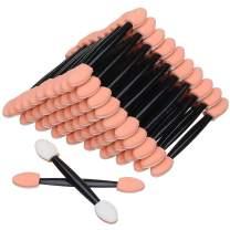 Akstore 100PCS Disposable Dual Sides Eye Shadow Sponge Applicator Eyeshadow Brushes Makeup Brush (Black)