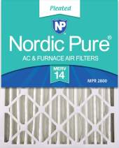 Nordic Pure 20x24x4 MERV 14 Pleated AC Furnace Air Filter 1 Pack
