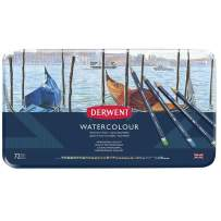 Derwent Colored Pencils, WaterColour, Water Color Pencils, Drawing, Art, Metal Tin, 72 Count (32889)