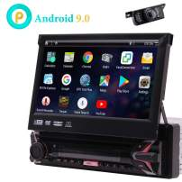 7inch Android 9.0 Capacitive Touchscreen Car Stereo GPS Navigation Quad Core 1GB 16GB Single 1 Din DVD CD Radio Bluetooth 4.0 WiFi 4G Mirror Link Steering Wheel Control with Wireless Reversing Camera
