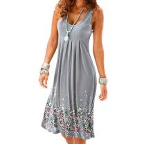 ZEFOTIM Women's Plus Size Summer Casual Dress Sexy V Neck Loose Flowy Swing Shift Beach Party Maxi Dresses