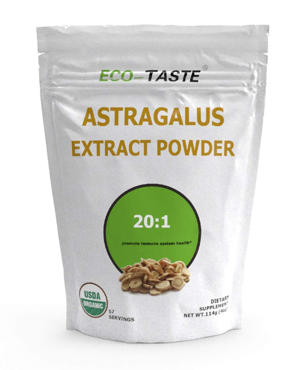 Astragalus Extract Powder 20:1, Promote Immune System Health, 114 Grams