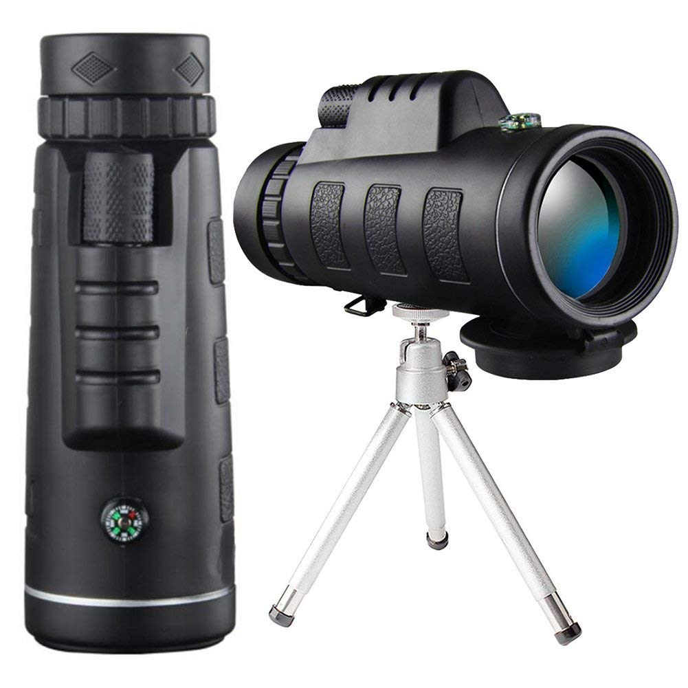 Monocular Telescope - 40X60 High Power HD Monocular for Bird Watching with Smartphone Holder & Tripod IPX7 Waterproof Monocular Made FMC BAK4 Prism & Eco-Friendly Materials