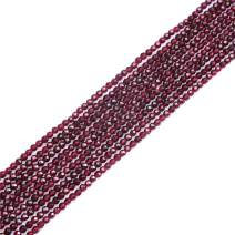 """JOE FOREMAN 4mm Garnet Beads for Jewelry Making Natural Semi Precious Gemstone Round Faceted Strand 15"""""""