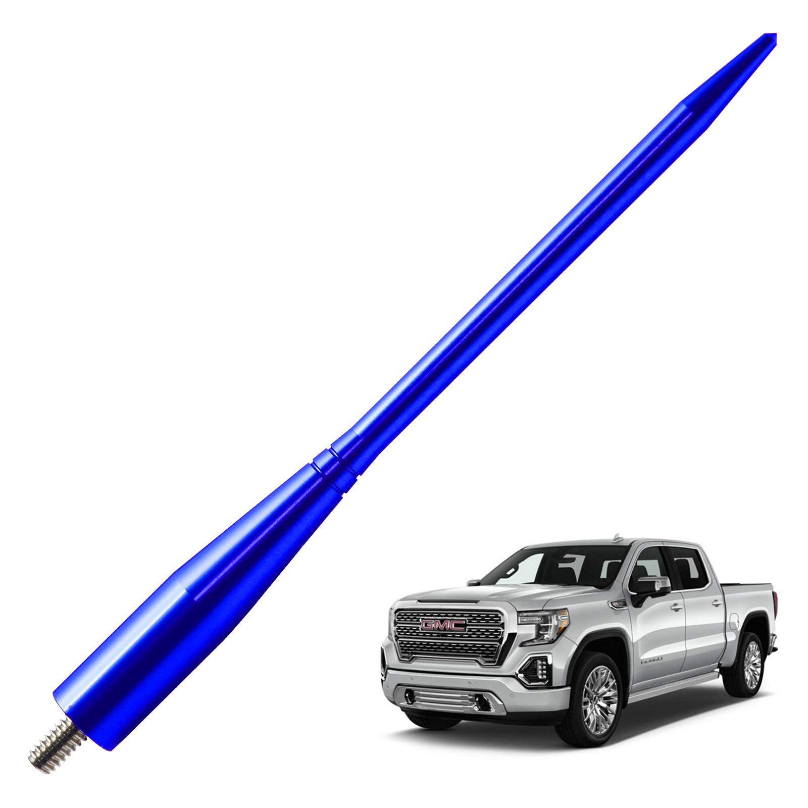 JAPower Replacement Antenna Compatible with GMC Sierra 1999-2006 | 6.75 inches-Blue