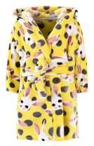 Little Boys Girls Kids Long Sleeve One Piece Flannel Bathrobes Hooded Pajamas Sleepwear