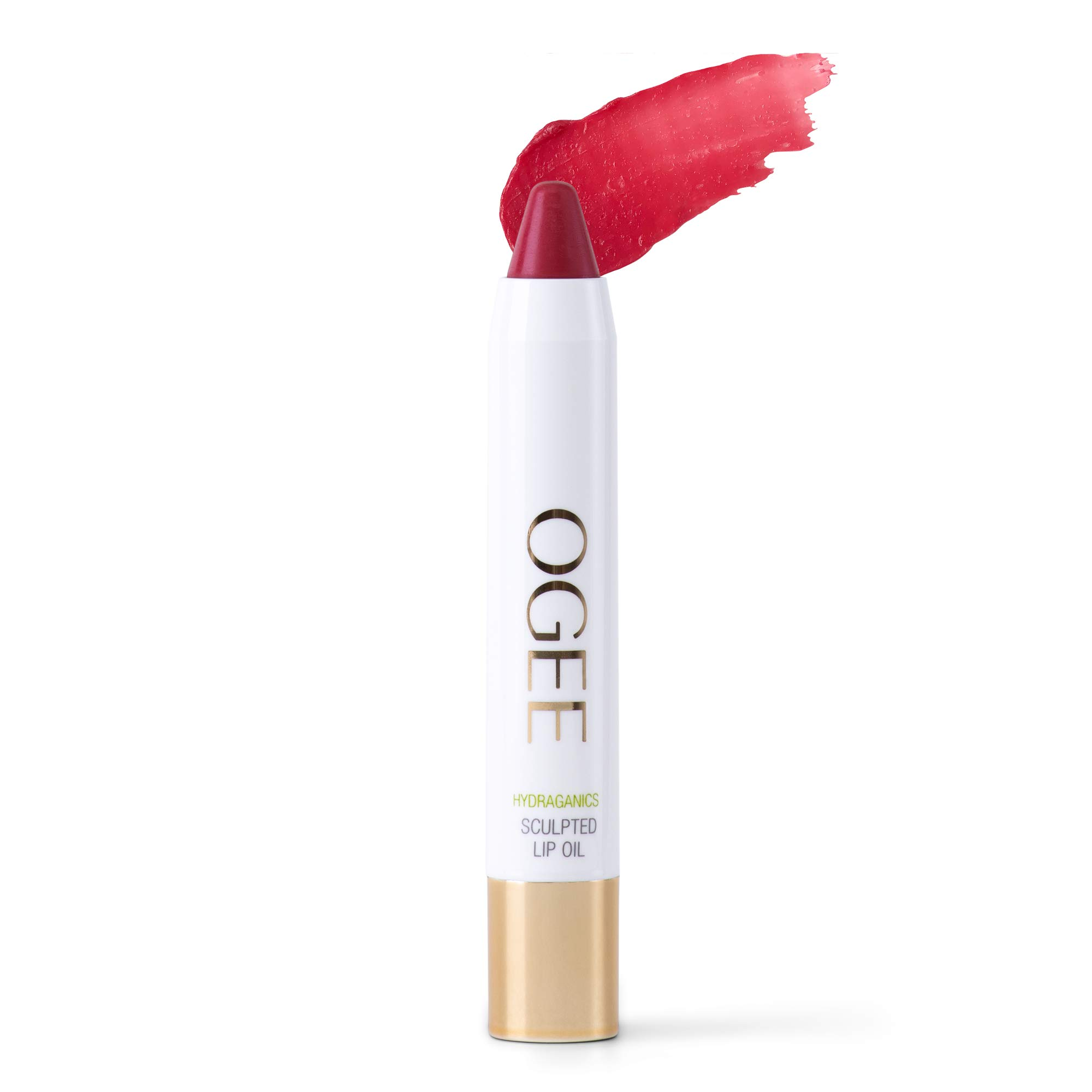 Ogee Tinted Sculpted Lip Oil - Made with 100% Organic Coconut Oil, Jojoba Oil, and Vitamin E - Best as Lip Balm, Lip Color or Lip Treatment - Petunia