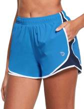 """BALEAF Women's 3"""" Athletic Running Woven Shorts Quick-Dry Gym Sport Workout with Pockets"""
