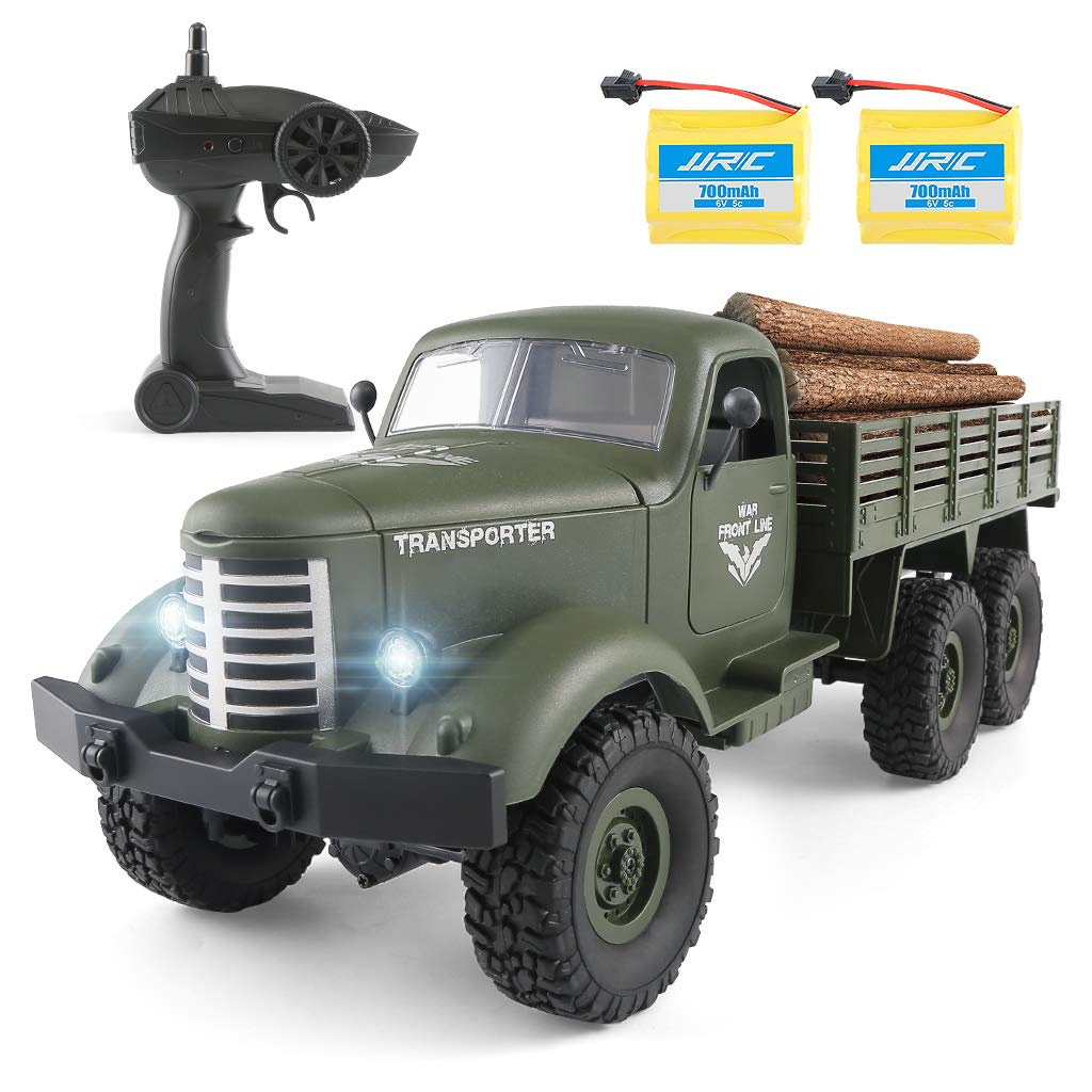 Rc Cars Rc Military Truck Off-Road Crawler Rc Trucks, 1:16 Scale 6WD 2.4Ghz Remote Control Trucks Army Cars Toys for Adults and Kids
