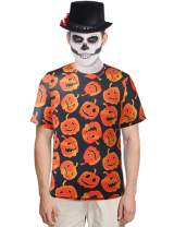 SSLR Men's Fun Crewneck Casual Short Sleeve Halloween T-Shirt